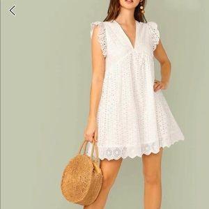 NWOT Shein Cute Eyelet Summer Dress Size Small